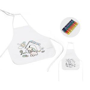 avental de criança para colorir